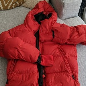 Athleta Down Coat Red